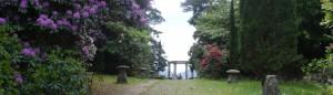 Temple in gardens